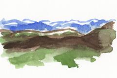Aquarelle montagne